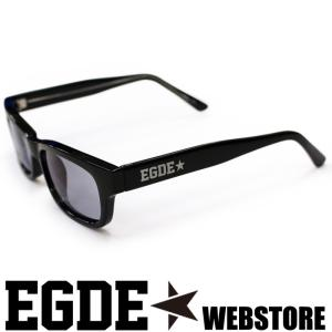 EGDE← EYEWEAR グレーレンズ スクウェア サングラス Black|xlove0091