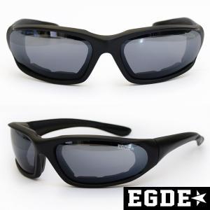 EGDE← EYEWEAR ミラーレンズ クッション付 ゴーグルタイプ スポーツ サングラス|xlove0091