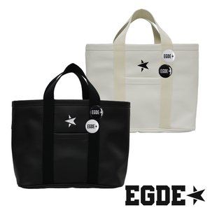 EGDE← スター刺繍 PUレザー ミニトートバッグ 缶バッジ付|xlove0091