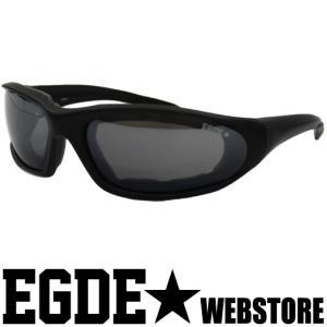 EGDE← EYEWEAR ミラーレンズ クッション付 ゴーグルタイプ サングラス Black|xlove0091