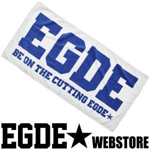 EGDE← BIGロゴ コットン バスタオル WhiteXNavy xlove0091