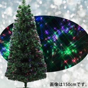 クリスマスツリー ファイバー 90cm グリーン ACアダプ...