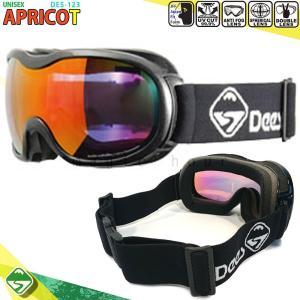 スノーボード スキー ゴーグル メンズ レディース スノーゴーグル DEES(ディース) APRICOT ミラー加工 くもり止め ダブルレンズ 球面レンズ ユニセックス 黒|xover-int