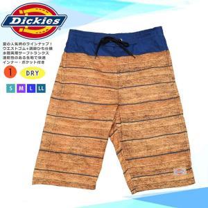 ◆ Dickies ディッキーズ メンズ 水着 海パン サーフトランクス インナーサポーター付き ス...