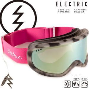 スノーボード ゴーグル エレクトリック ELECTRIC CHAGER-W メンズ レディース スキー スノボ スノーゴーグル アジアンフィット ミラー くもり止め PINK TORT 柄|xover-int