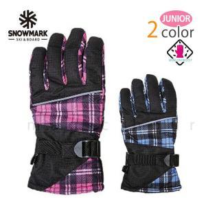 スキー スノーボード グローブ ジュニアサイズ スノボ 防水 スノーグローブ 手首調整防水インナー内蔵 手袋 チェック柄 レッド ピンク ブラック ブルー 水色 xover-int