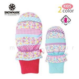 スキー スノーボード ミトングローブ キッズサイズ スノボ 防水 スノーグローブ 防水インナー内蔵 手袋 花柄 派手 水色 紫 レッド ブルー 白色 子供 女の子 xover-int