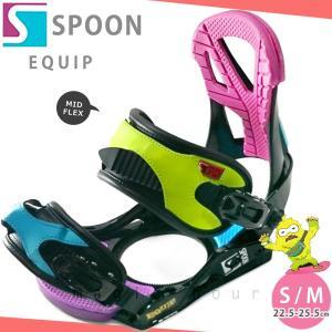 スノーボード ビンディング スノボー バインディング メンズ レディース SPOON スプーン EQUIP ボード 19-20 グラトリ 軽量 黒 / 板と同時購入で取付無料|xover-int