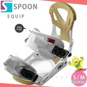 スノーボード ビンディング スノボー バインディング メンズ レディース SPOON スプーン EQUIP ボード 19-20 グラトリ 軽量 赤 無地 / 板と同時購入で取付無料|xover-int