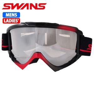 SWANS スノーゴーグル 大人用 スキー スノーボード 050MDH ブラックxレッド 〔050mdh-bkr〕|xstyle