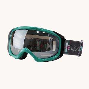 SWANS(スワンズ)スキーダブルレンズゴーグル  ミント 〔070mdhs-mint〕|xstyle