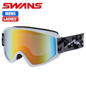SWANS スノーゴーグル 大人用 メガネ対応 100MDH マットホワイト 〔100mdh-maw〕|xstyle