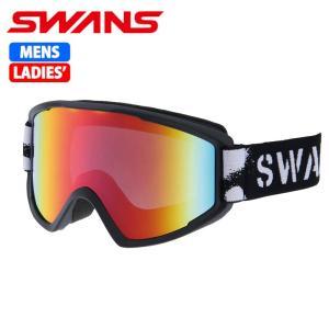 SWANS スノーゴーグル 大人用 メガネ対応 100MDH マットブラック 〔100mdh-mbk〕|xstyle
