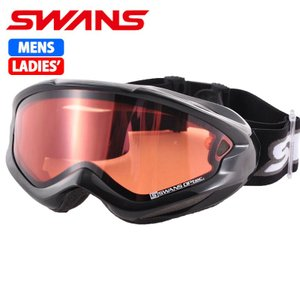 SWANS スノーゴーグル 大人用 ダブルレンズ 606DH ブラック 〔606dh-bk〕|xstyle