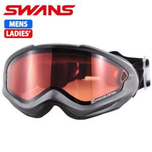 SWANS スノーゴーグル 大人用 ダブルレンズ 606DH シルバー 〔606dh-sil〕|xstyle