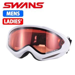 SWANS スノーゴーグル 大人用 ダブルレンズ 606DH ホワイト 〔606dh-w〕|xstyle