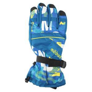 メンズ スキーグローブ mobus(モーブス)  2015-2016モデル ボードグローブ 手袋 大人用  ブルー 〔gmob-366ad-blue〕|xstyle