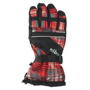 ジュニアボーイズ スキーグローブ mobus(モーブス) 2015-2016モデル ボードグローブ 手袋 男の子  レッド 〔gmob-367-red〕|xstyle