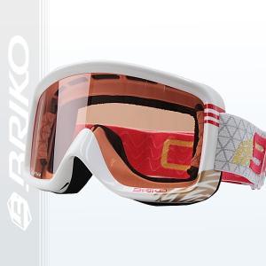 BRIKO(ブリコ)SUPER RACE スノーゴーグル シングルレンズ メンズ レディース  WHITE-GOLD (j10381-100-13-f382)|xstyle