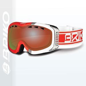 BRIKO(ブリコ)NITROX スノーゴーグル ダブルミラーレンズ メンズ レディース  WHITE-RED (j10587-13-d4-z02)|xstyle