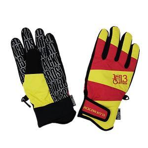 JACKFROST13(ジャックフロスト13)GIMMICK GLOVE スノーボードグローブ メンズ レディース(ユニセックス)手袋 RED/YELLOW 〔jfa95000-056273〕|xstyle
