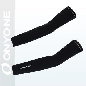 ONYONE(オンヨネ)アームカバーフィットタイプ メンズ レディース 日焼けを防止する肌触りのよいアームカバーです DM便可  黒(ブラック) 〔oda90900-009〕|xstyle