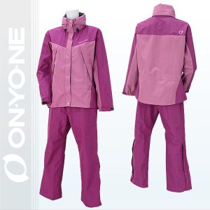 オンヨネ レインウェア レディスブレステックレインスーツ 女性用 雨具 ピンク/パープル (ods85034-933968) xstyle