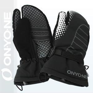 オンヨネ スリーフィンガー グローブ THREE FINGER GLOVE メンズ レディース 男女兼用 スキー 手袋 BLACK (ona96803-009) xstyle