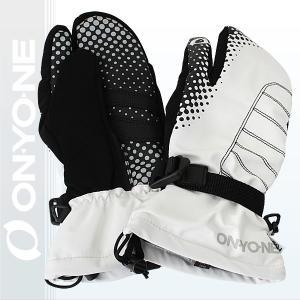 オンヨネ スリーフィンガー グローブ THREE FINGER GLOVE メンズ レディース 男女兼用 スキー 手袋 WHITE (ona96803-100) xstyle