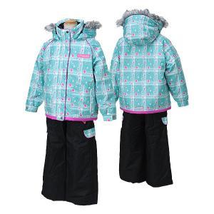 POCKET BEAR(ポケットベア)子供 女の子用 スキーウェア  ミント/ブラック 〔pbt-2513-mint〕 xstyle