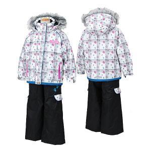 POCKET BEAR(ポケットベア)子供 女の子用 スキーウェア  ホワイト/ブラック 〔pbt-2513-white〕|xstyle