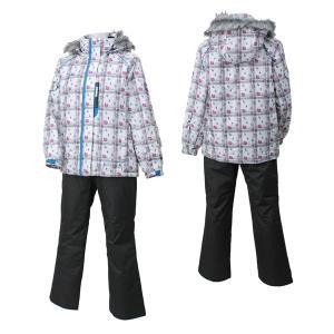 SPALDING(スポルディング) 大人 レディース 女性用 スキーウェア  ホワイトxチャコール 〔spl-6541-whitexchar〕 xstyle