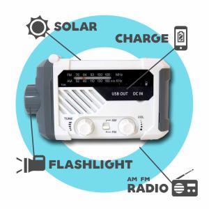 手回し ラジオ 懐中電灯 スタンドライト 読書 サイレン ソーラー充電 スマホ充電 LEDライト 乾電池 FM/AMラジオ 非常用 緊急用  送無 XG754|xzakaworld|02