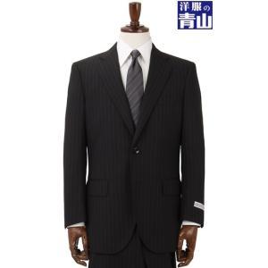 秋冬用 ブラック系  形状記憶プリーツ  ツーパンツ スタンダードスーツ FULL MARK|y-aoyama