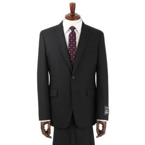 オールシーズン用 ブラック系 スタイリッシュスーツ【CONTROL α】【ツーパンツ】 PERSON'S FOR MEN 洋服の青山PLUS