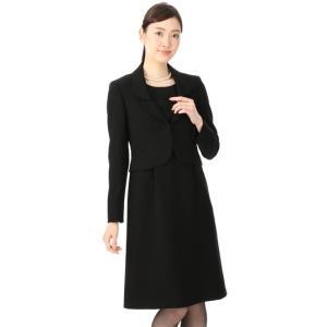 オールシーズン用 ブラック系  二枚衿 レース使いアンサンブル Miss JUNKO|y-aoyama