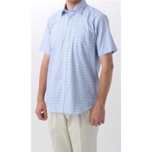 盛夏用 ブルー系  多機能  半袖 カジュアルシャツ BEST of BEST|y-aoyama