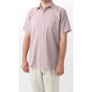 盛夏用 エンジ系  多機能  半袖 カジュアルシャツ BEST of BEST|y-aoyama