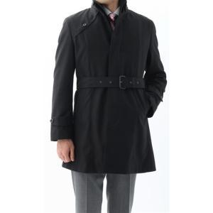 秋冬用 ブラック系  アウトレット 現品限り 合繊  ステンカラー スタイリッシュコート PAZZO collection|y-aoyama