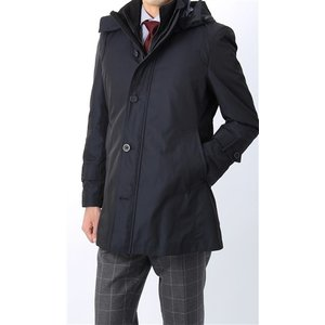 秋冬用 ネイビー系  アウトレット 現品限り 合繊  スタンドカラー スタイリッシュコート CHRISTIAN ORANI|y-aoyama