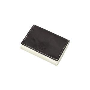 ブラック系  バイカラー  パス  コイン カードケース ATELIER SAB MEN|y-aoyama