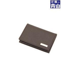 ブラウン系  角シボエンボスレザー カードケース ATELIER SAB MEN|y-aoyama