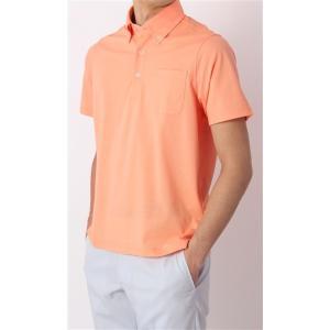 春夏用 オレンジ系  アウトレット 現品限り NON IRONMAX ボタンダウンポロシャツ CHRISTIAN ORANI|y-aoyama