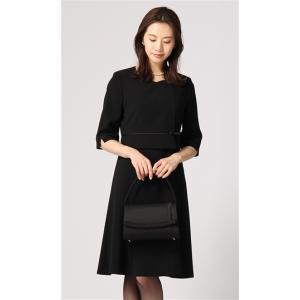 オールシーズン用 ブラック系  前開き ノーカラーワンピース ANCHOR WOMAN PERSON'S|y-aoyama