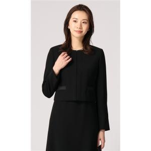 オールシーズン用 ブラック系  ノーカラー フォーマルジャケット ANCHOR WOMAN PERSON'S|y-aoyama