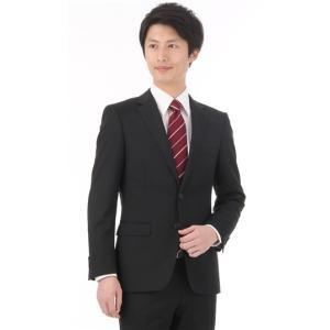 オールシーズン用 ブラック系  就活  ブラック無地  ストレッチ  ツーパンツ スタイリッシュスーツ PERSON'S FOR MEN|y-aoyama