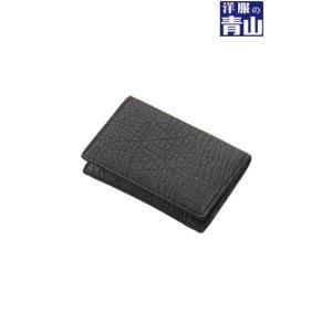 ブラック系  イタリアンレザー  イタリアンベジタブルタンニンレザー カードケース HILTON|y-aoyama