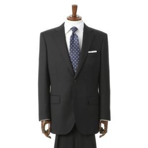 秋冬用 ブラック系 スタンダードスーツ【ツーパンツ】【OEKO-TEX】 REGAL 洋服の青山PLUS