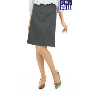 オールシーズン用 グレー系 《『non-no』2月号掲載商品》 セットアップ対応  ストレッチ 台形スカート n-line Precious|y-aoyama