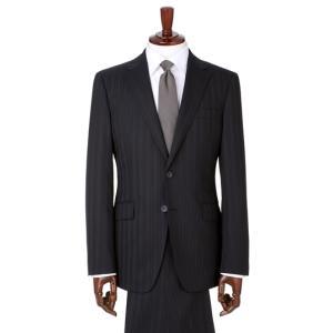 秋冬用 ネイビー系 スタイリッシュスーツ【OEKO-TEX】【ツーパンツ】 PERSON'S FOR MEN 洋服の青山PLUS
